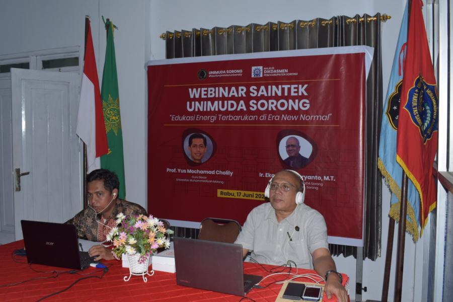 FST-UNIMUDA Sorong, Adakan Webinar Nasional Energi Terbarukan