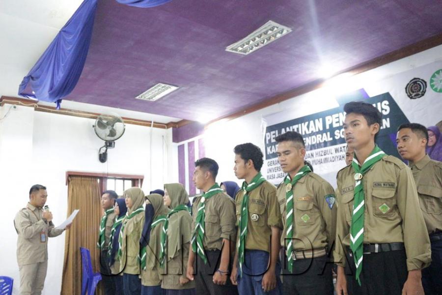 Wakil Rektor UNIMUDA Sorong, Melantik Pengurus GK. HW Kafilah Jenderal Sudirman